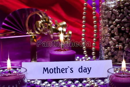 festive background with sign for mothers