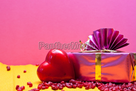 romantic background old pink and yellow
