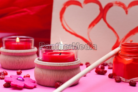 romantic red pink background with heart