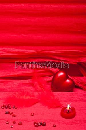 romantischer roter hintergrund mit textfreiraum