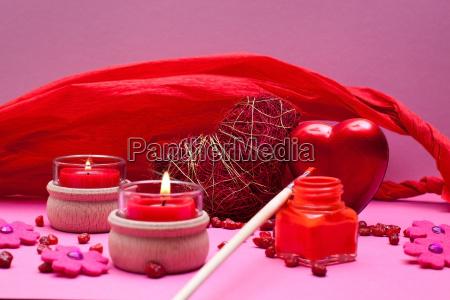 rot rosa romantischer hintergrund mit herzen