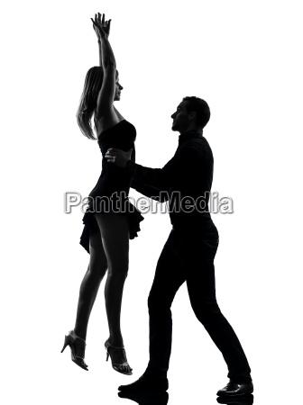 couple woman man dancing dancers salsa