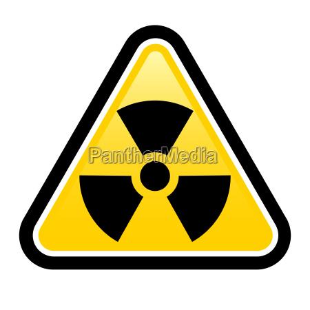 warning radiation sign