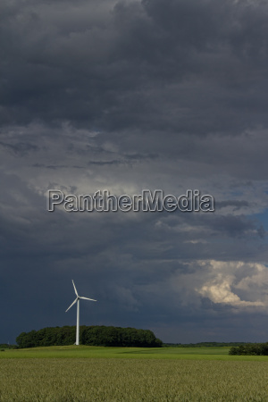 windmill and directionally rotating storm