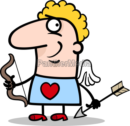valentine man in cupid costume cartoon