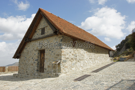 barn roof church cyprus europe