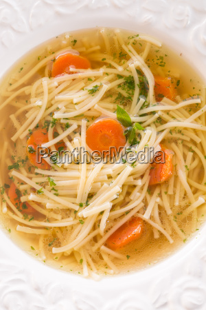 noodle soup with beef broth