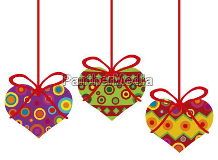 valentines day hanging hearts ornaments