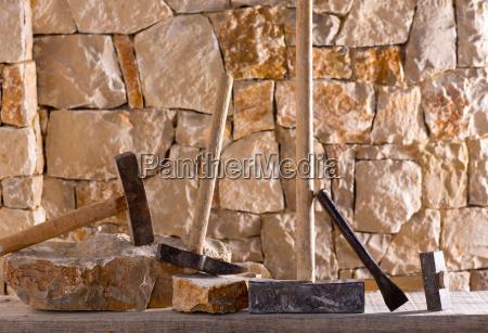 hammer werkzeuge der steinmetzen maurerarbeiten