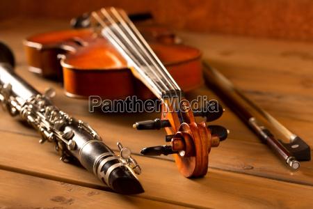klassische musik violine und klarinette im