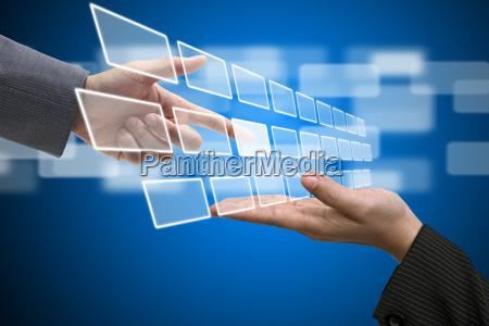 virtuelle technologie touch screen schnittstelle