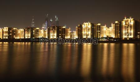 dubai marina skyline at night dubai