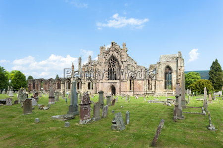 ruinen von melrose abbey scottish borders