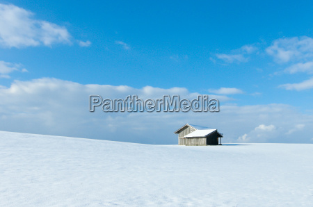 wintry landscape it blue sky and