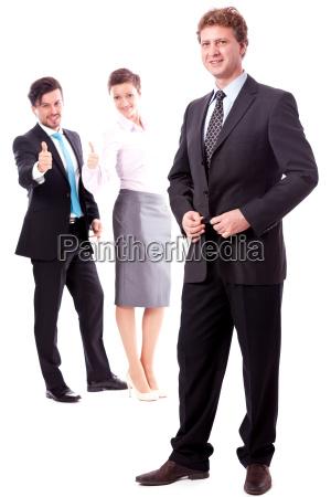 gruppe team mit chef und mitarbeitern
