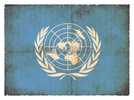 grunge flagge vereinte nationen