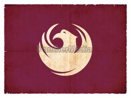 grunge flag phoenix arizona usa