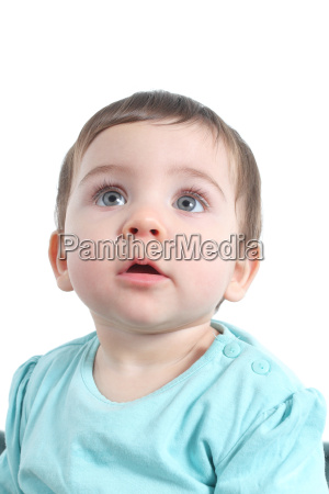 baby watching attentive with a big