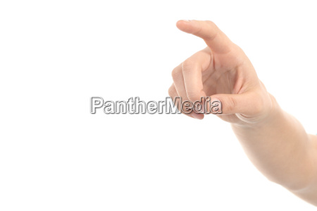 woman hand pointing or pushing with