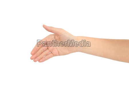 woman hand ready for handshake