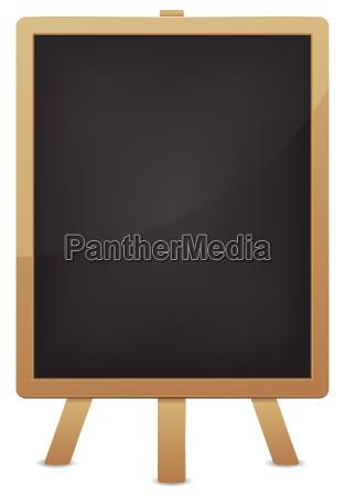 empty blackboard for advertisement