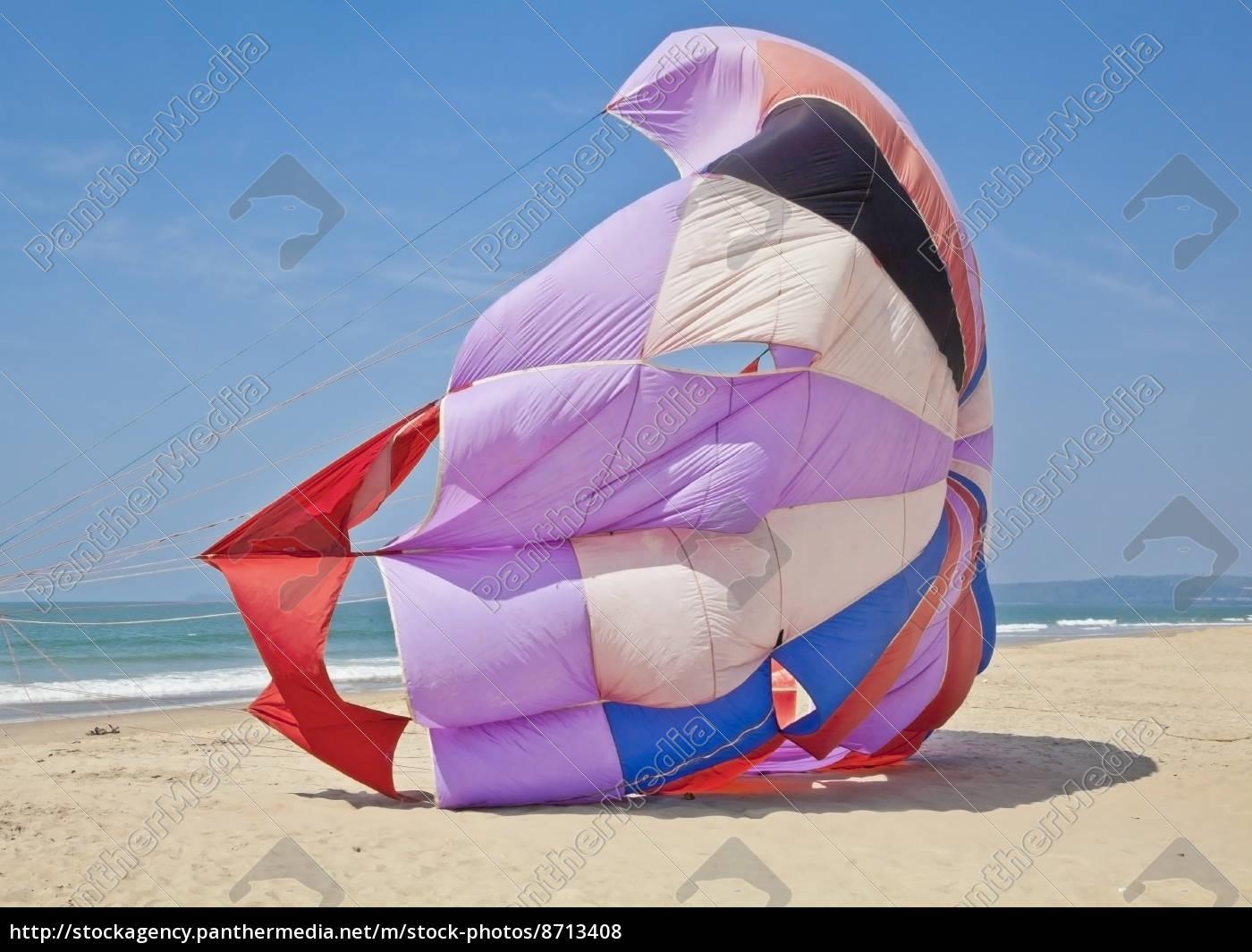 abstrakteparasail, auf, goa, beach, indien - 8713408