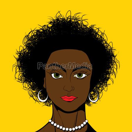pop art stil schwarze maedchen