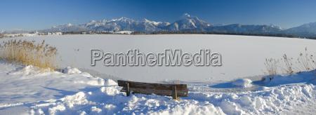 bayern panorama landschaft im winter