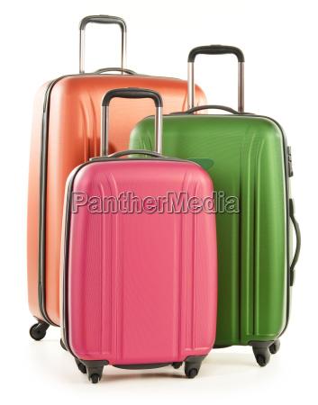 gepaeck bestehend aus grossen koffer isoliert