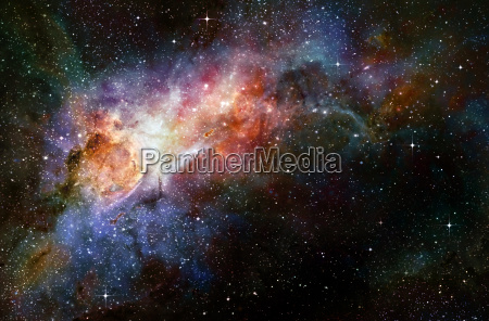 starry deep outer space nebual and