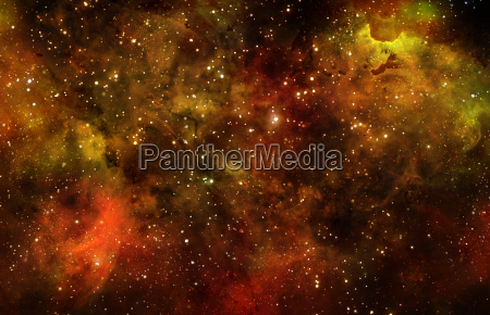 starry deep outer space nebula and