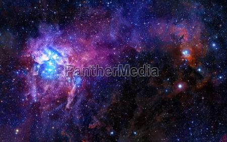 sternen tiefen weltraum nebel und galaxien
