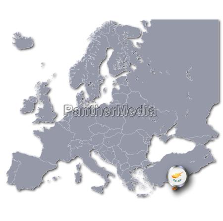 europakarte zypern