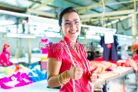 seamstress in a factory