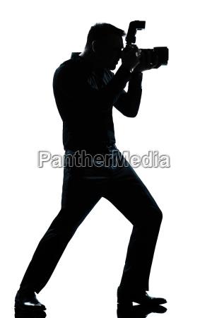 silhouette mann in voller laenge fotograf