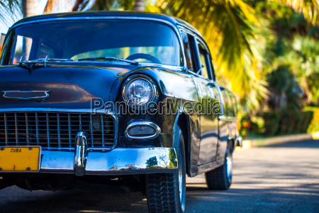 vintage car in the caribbean in