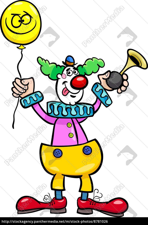 Stock Photo 8781026 Lustige Clown Cartoon Illustration