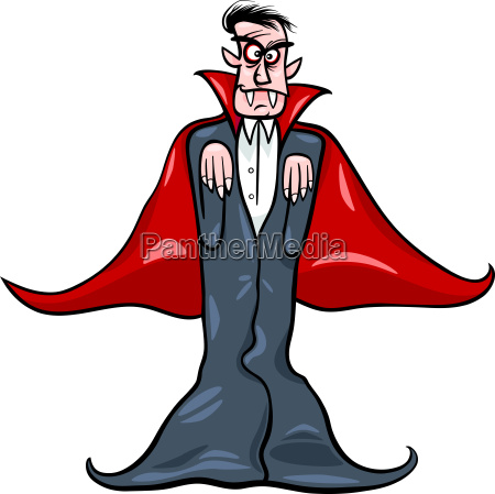 dracula vampir cartoon abbildung
