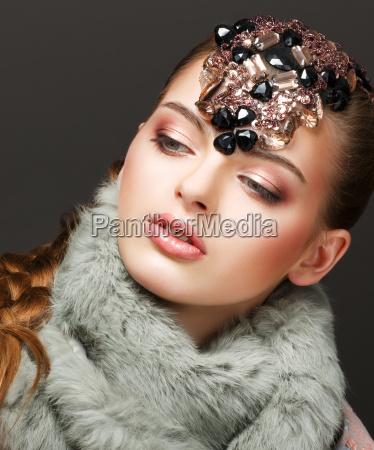 fantasie russische frau mode modell mit