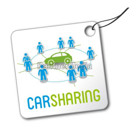 carsharing logo etikett