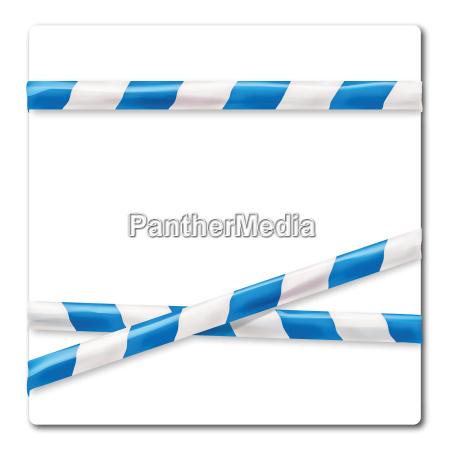 streamer blue white