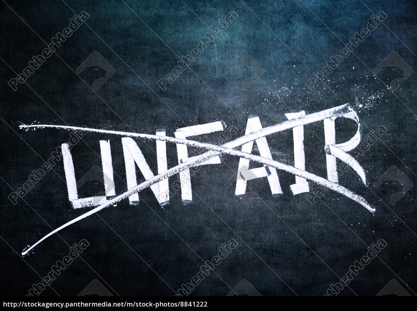 kein, unfaires, konzept - 8841222