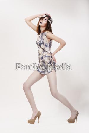fashion style dynamic modish woman in
