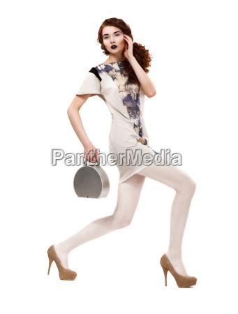 profil von stadt glamorous model in