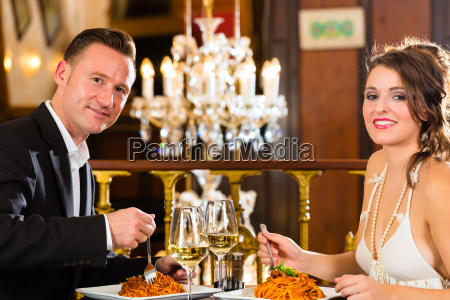 couple on a romantic date at