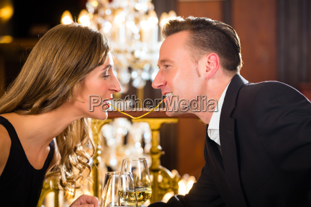 couple during a romantic date at
