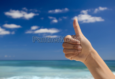 hand ok himmel paradies himmelreich strand
