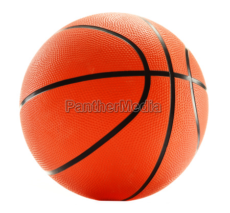 basketball isoliert auf weissem hintergrund