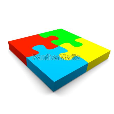 puzzle zusammenarbeit konzept