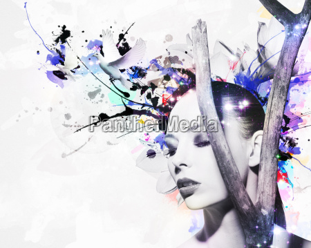 abstract design of a beautiful woman